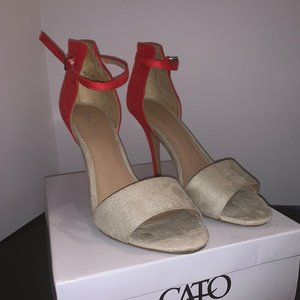 Cato Tan and Red Heels